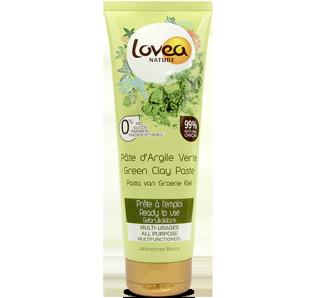 LOVEA Pâte d'Argile verte prête à l'emploi Peaux normales à grasses 360 gr