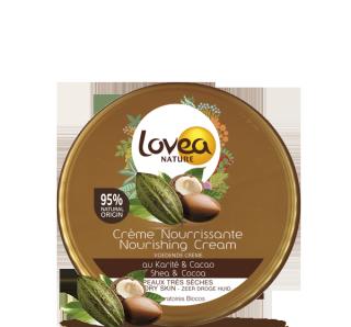 Lovea Nature - Crème nourrissante au Karité et au Cacao