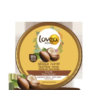 LOVEA NATURE, Masque capillaire, nutritif, au karité, mini format, 50 ml