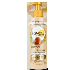 Lovea Nature - Lait corps réparateur cacao nirvana peaux extra sèches