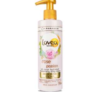 Lovea Nature - Lait Corps Hydratant Rose Passion peaux sèches