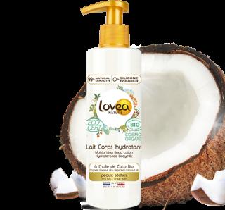 Lovea lait corps hydratant coco peau sèches 250 ml