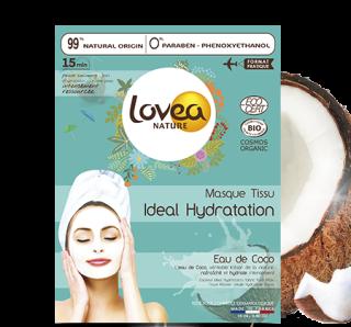 Masque Tissu Ideal Hydratation Eau de coco Bio