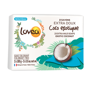 2 Savons extra-doux Coco Exotique 2 x 100 g