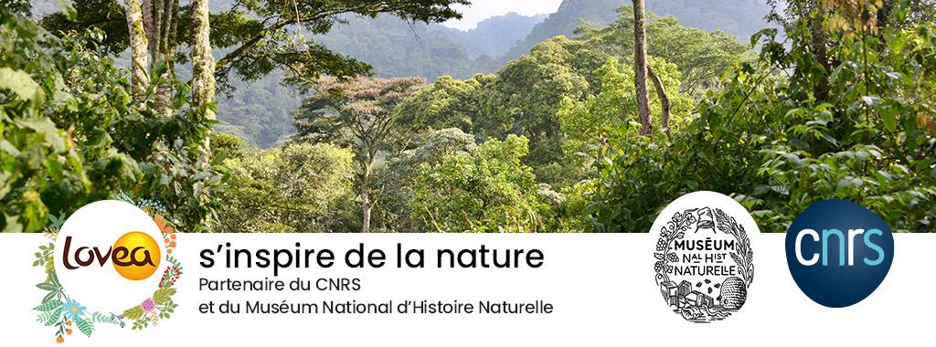 Lovea s'inspire de la nature. Partenaire du CNRS et du Muséum National d'Histoire Naturelle